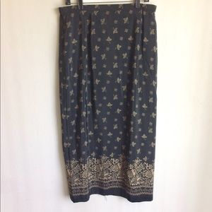 Norton Border Print Skirt Black and Tan Size 16
